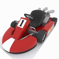 3d cartoon kart car model