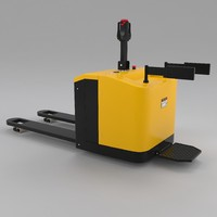 3d model electric pallet truck industrial