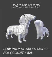 Dachshund Low Poly Model