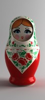 3d matryoshka russian china model