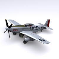 3d max p-51 mustang fighter p-51d