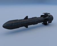 missile 4k pbr 3ds