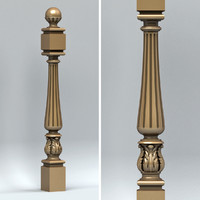 newel post 3d max