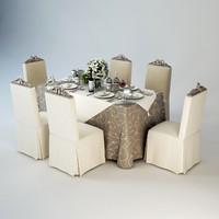 3d model restaurants banquet table