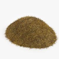 3d hay pile model