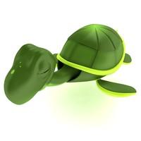 cute turtle tortoise 3d max
