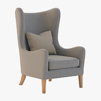 3d max jackson wing chair
