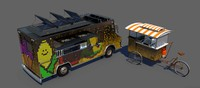 food truck hot dog 3d model