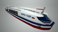 passenger river ship 3d model