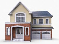 cottage houses architecture 3d model