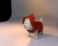 3d model cartoon dog toon