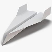 paper plane 2 3d model