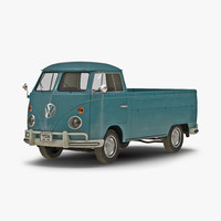 3d volkswagen type 2 single model