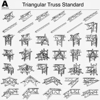 triangular truss standart 008 3ds