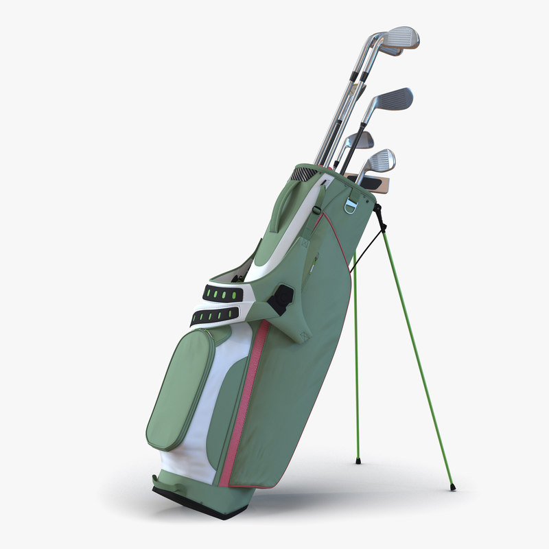 Golf Bag Generic with Clubs 3d models 00.jpg