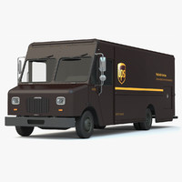 ups delivery truck van 3d model