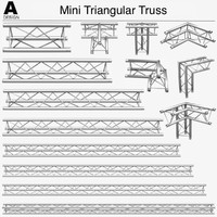 3d model mini triangular truss 009