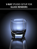 glass studio scene setup 3d model