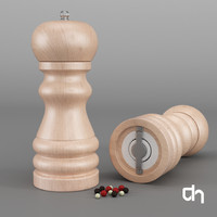 3d model pepper salt shaker