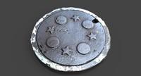 3d model utility cover stars