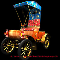 carriage antique 3d model