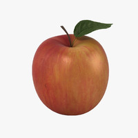 3d apple leaf realistic