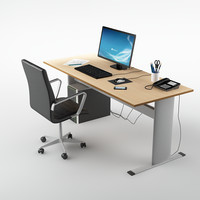office desk 01 3d max