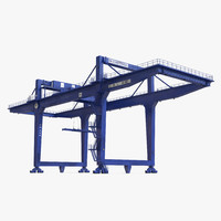 Rail Mounted Gantry Container Crane Blue
