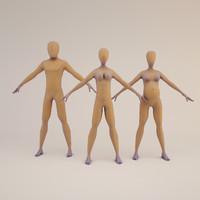 3d base mesh human character model
