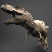 realistic zbrush t-rex dinosaur 3d obj