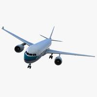 jet airliner airbus a330-200 3d c4d