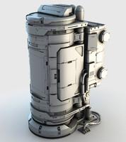 3d model of sci-fi element