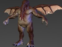 cthulhu lovecraft creature 3d model