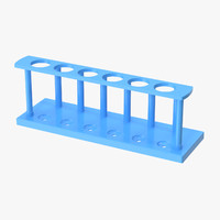 3d model test tube rack 02