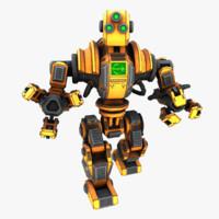 3d model of robot loader
