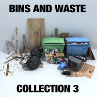 bins waste collections 3ds