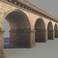Arched stone bridge