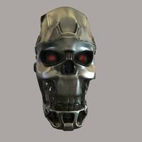 Terminator skull T-800 head