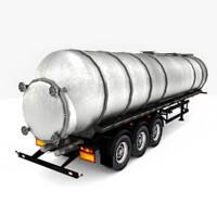 3ds cistern tanker trailer truck