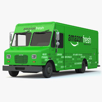 amazon fresh delivery truck 3d max