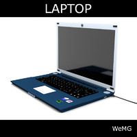 3d laptop photoreal