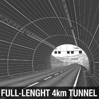 3d max full-lenght tunnel terrain