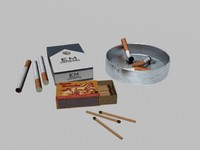 max cigarette match ashtray