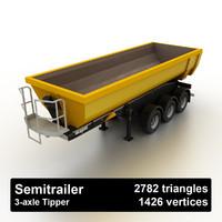 tipper dump semitrailer 3ds