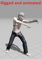 zombie rigged animations obj