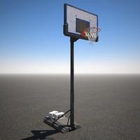 3d basketball goal model