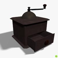 Coffee grinder rigged