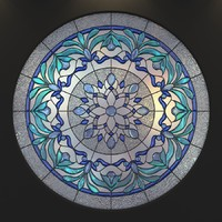 3d stained glass model