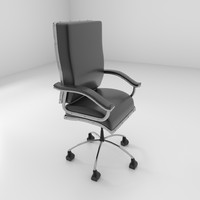 3d model leather rotating chair 2