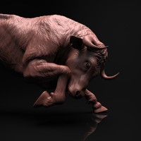 Bull Sculpture (Zbrush HD)